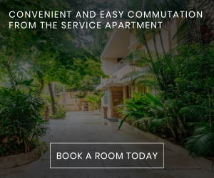 CONVENIENT AND EASY COMMUTATION FROM THE SERVICE APARTMENT